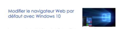 Windows 10 : remplacer le navigateur Web par défaut
