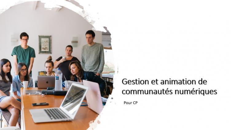 Gestion et animation de communautés numériques pour CP