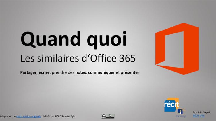 Quand quoi, les similaires d'Office 365