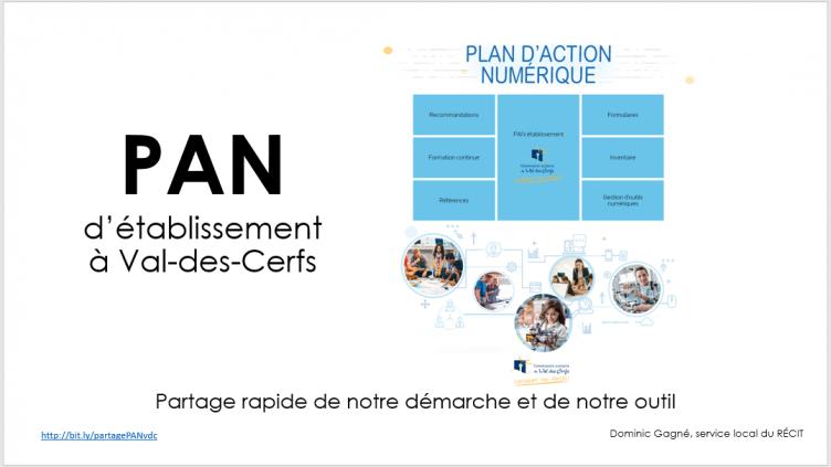 Les plans d'action numériques (PAN) d'établissement VDC