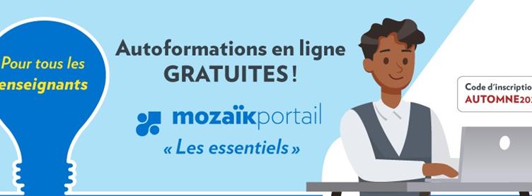 Autoformations en ligne gratuites pour Mozaïk portail