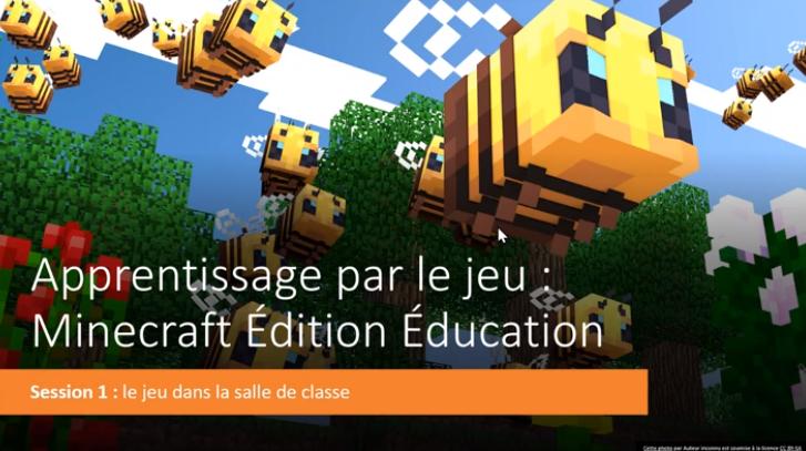 3 webinaires Minecraft offerts par Microsoft éducation